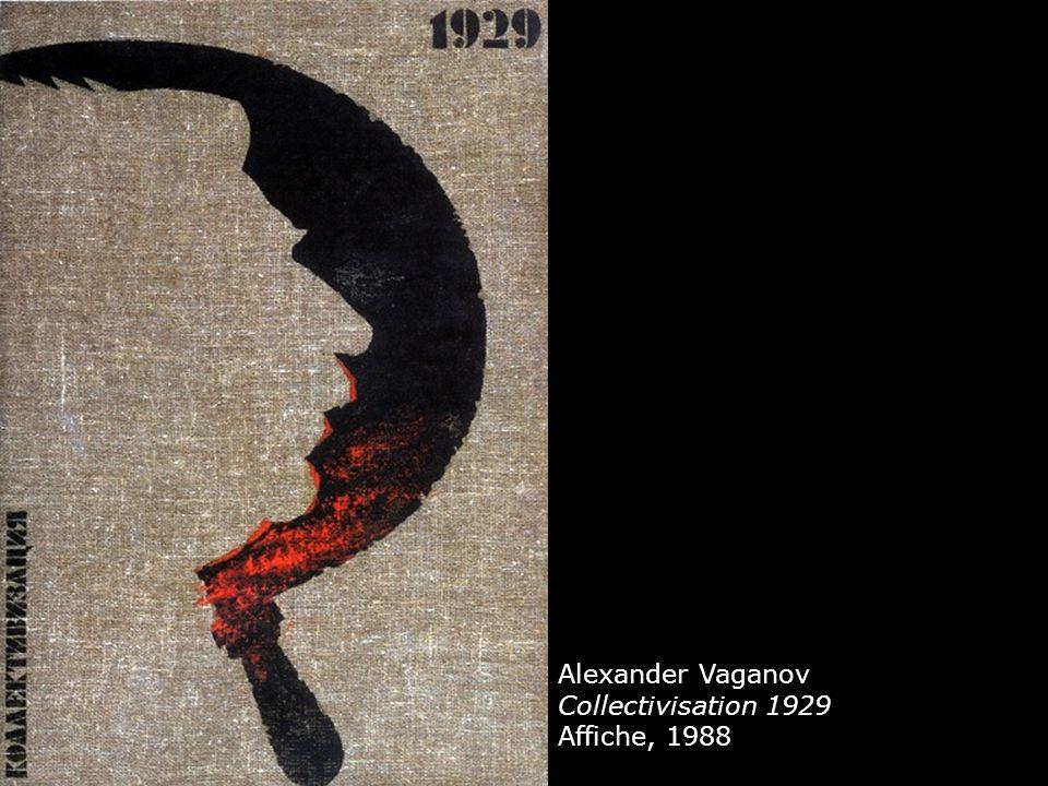 Alexander Vaganov Collectivisation 1929 Affiche, 1988