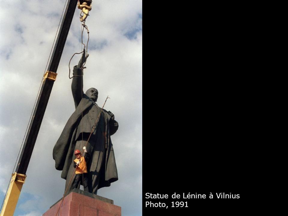 Statue de Lénine à Vilnius Photo, 1991