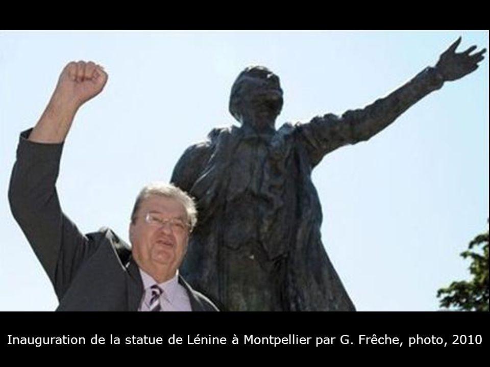 Inauguration de la statue de Lénine à Montpellier par G. Frêche, photo, 2010