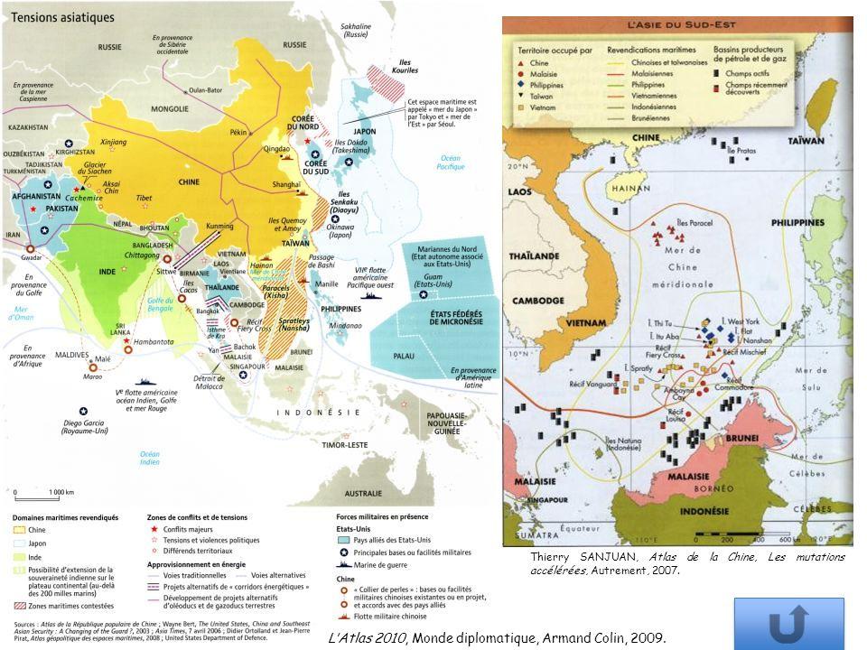 Thierry SANJUAN, Atlas de la Chine, Les mutations accélérées, Autrement, 2007. LAtlas 2010, Monde diplomatique, Armand Colin, 2009.
