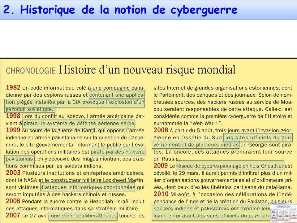 2. Historique de la notion de cyberguerre