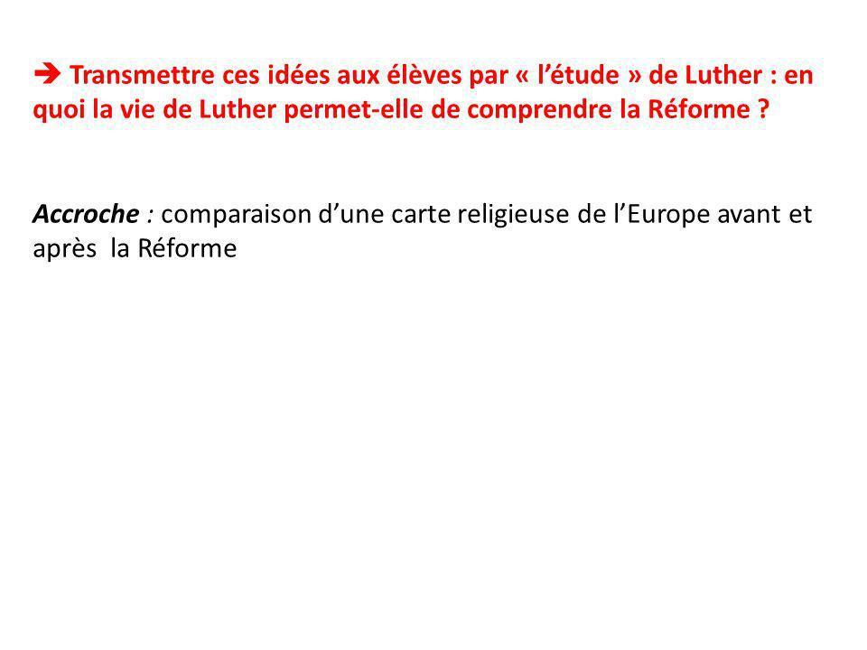 Questionnaire: 1)Un nouveau rapport à Dieu : en quoi les idées de Luther sopposent-elle à lEglise et au Pape .