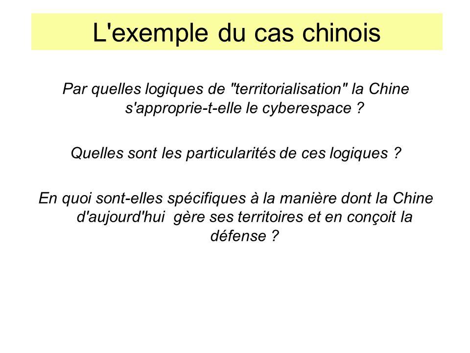 L exemple du cas chinois Par quelles logiques de territorialisation la Chine s approprie-t-elle le cyberespace .