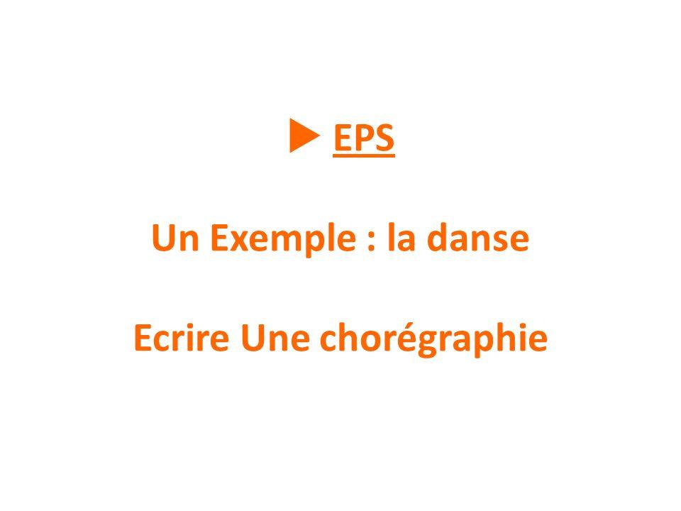 EPS Un Exemple : la danse Ecrire Une chorégraphie