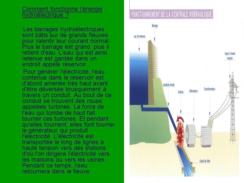 Comment fonctionne lénergie hydroélectrique .