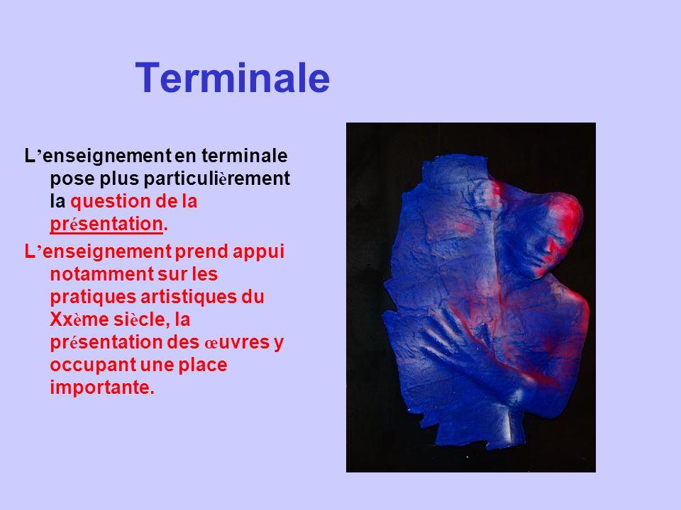Terminale L enseignement en terminale pose plus particuli è rement la question de la pr é sentation. L enseignement prend appui notamment sur les prat