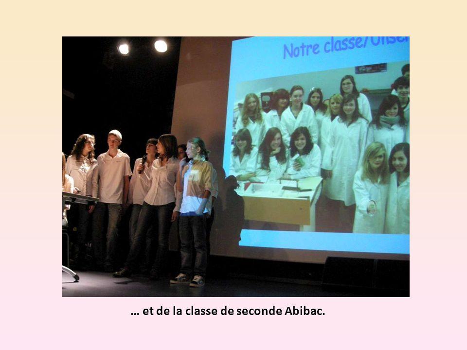 … et de la classe de seconde Abibac.