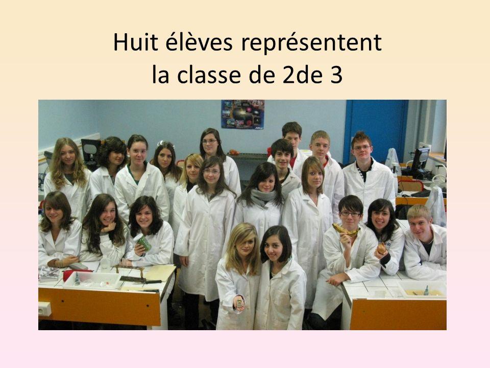 Huit élèves représentent la classe de 2de 3