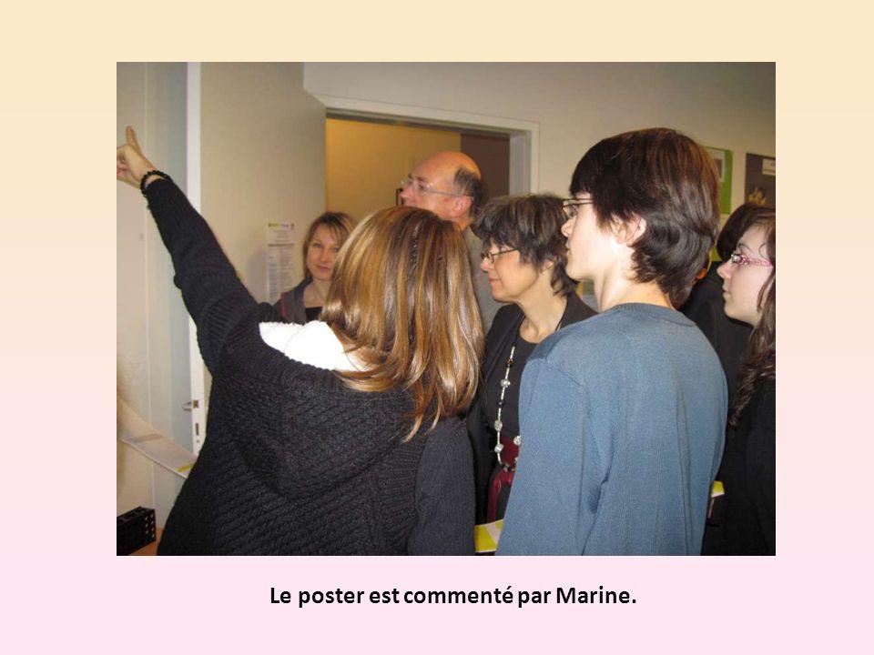 Le poster est commenté par Marine.