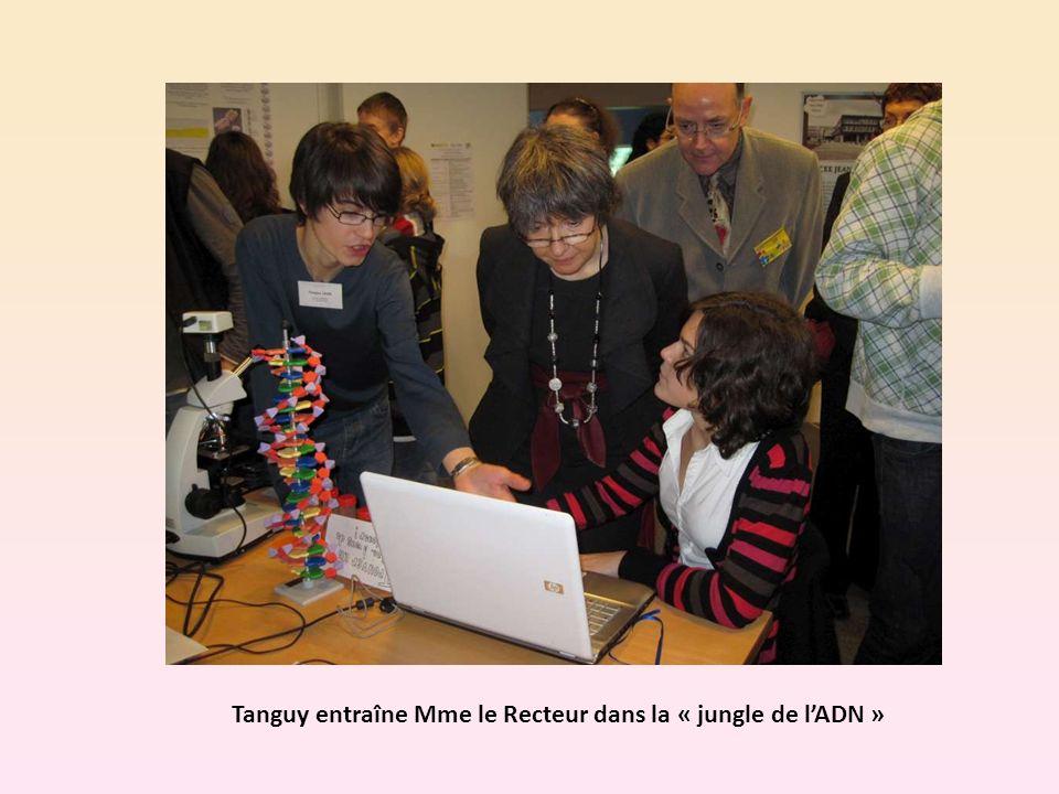 Tanguy entraîne Mme le Recteur dans la « jungle de lADN »