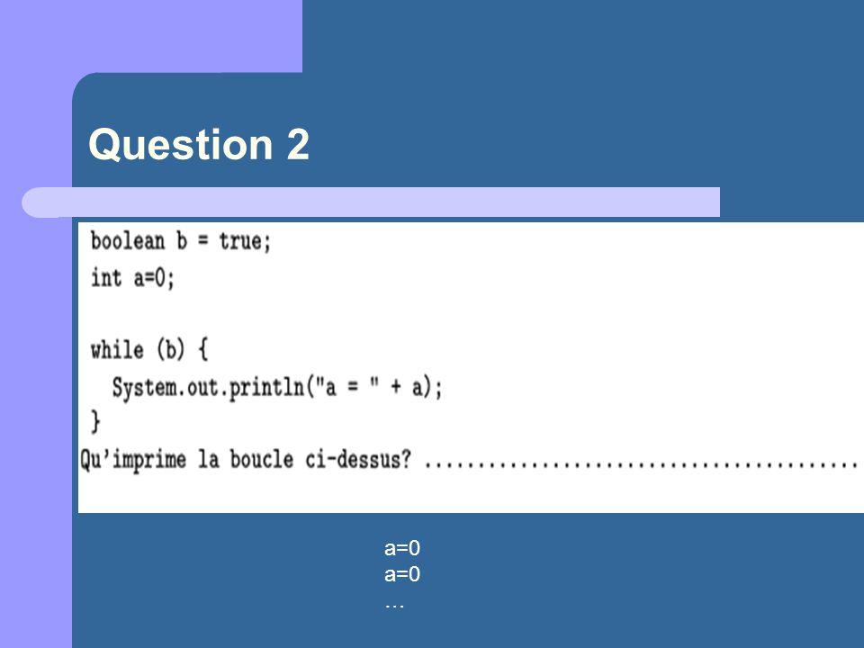 a=0 …