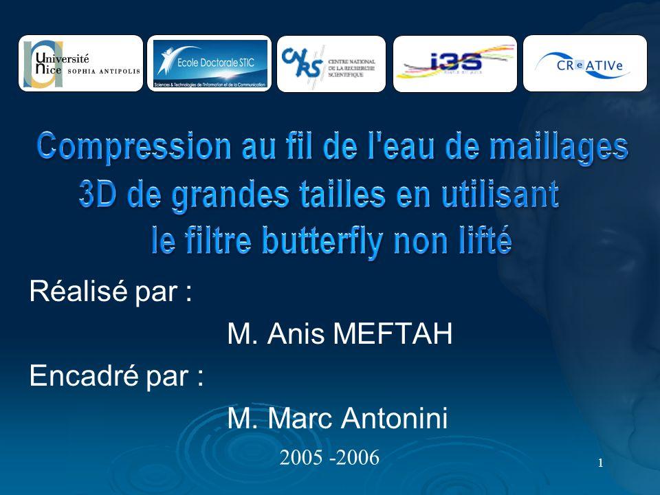 1 Réalisé par : M. Anis MEFTAH Encadré par : M. Marc Antonini 2005 -2006