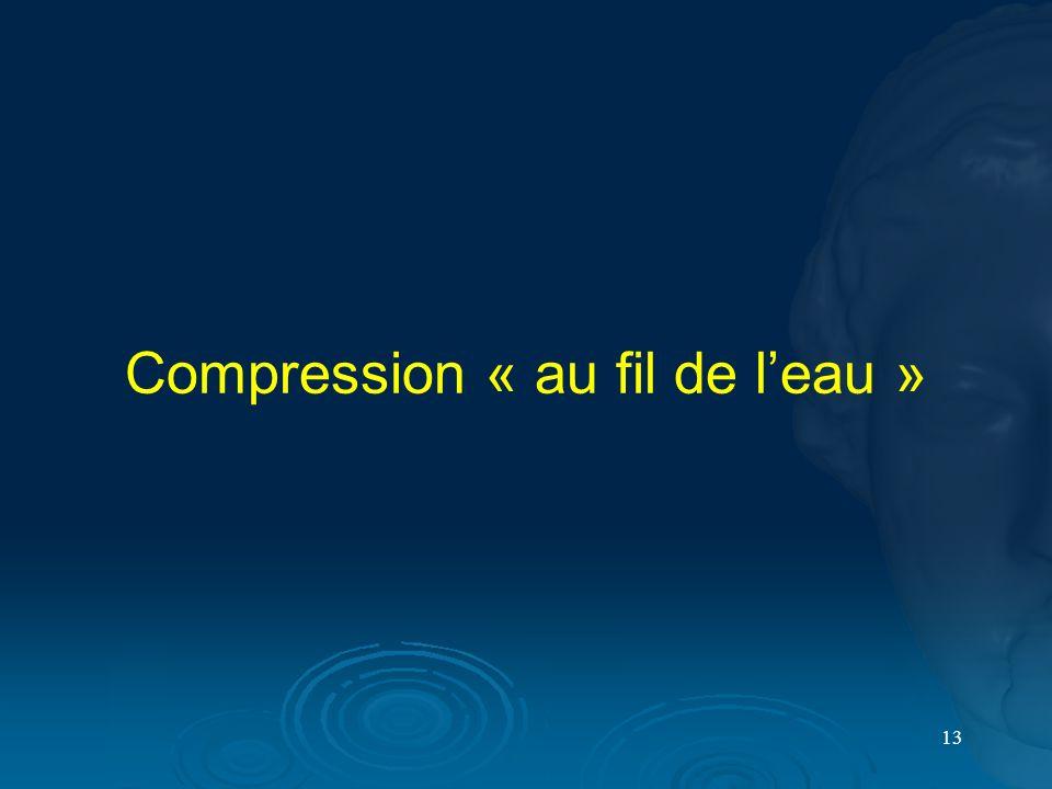 13 Compression « au fil de leau »
