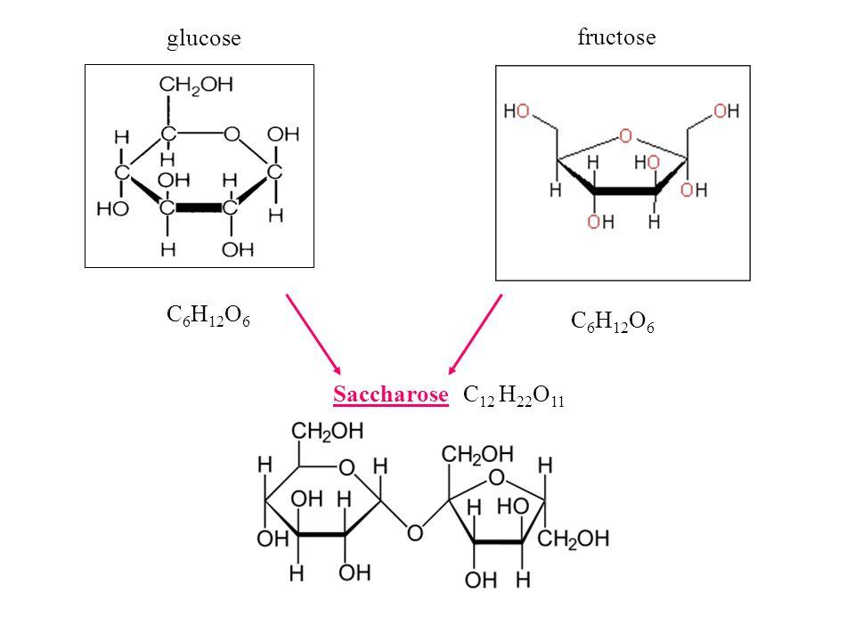 fructose glucose C 6 H 12 O 6 Saccharose C 12 H 22 O 11