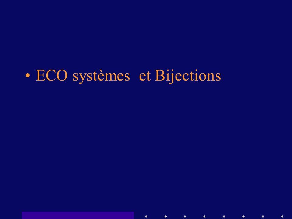 ECO systèmes et Bijections