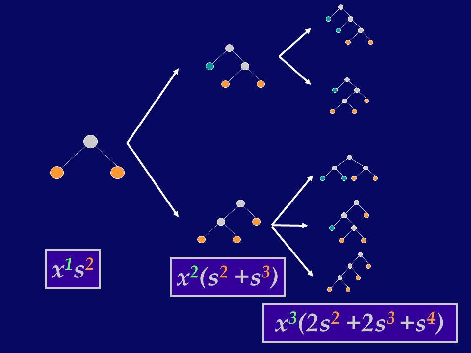 x1s2x1s2 x 2 (s 2 +s 3 ) x 3 (2s 2 +2s 3 +s 4 )