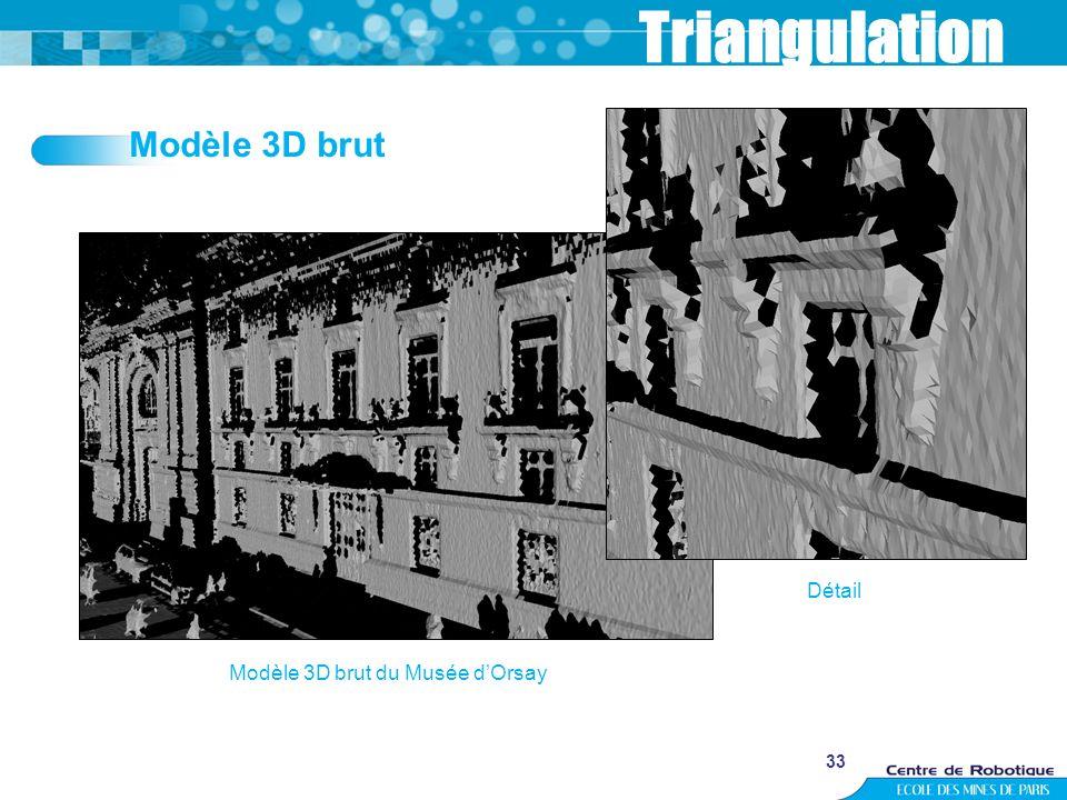 33 Triangulation Modèle 3D brut du Musée dOrsay Détail Modèle 3D brut