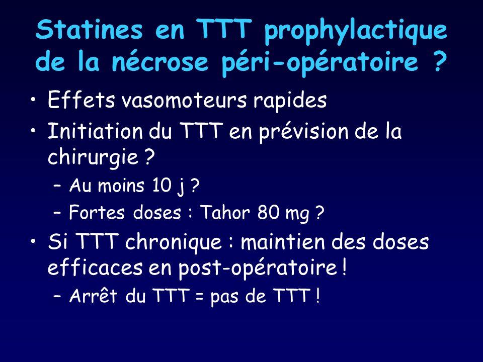 Statines en TTT prophylactique de la nécrose péri-opératoire .