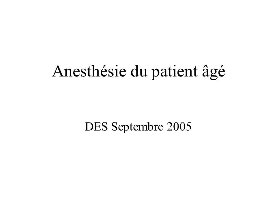 Anesthésie du patient âgé DES Septembre 2005