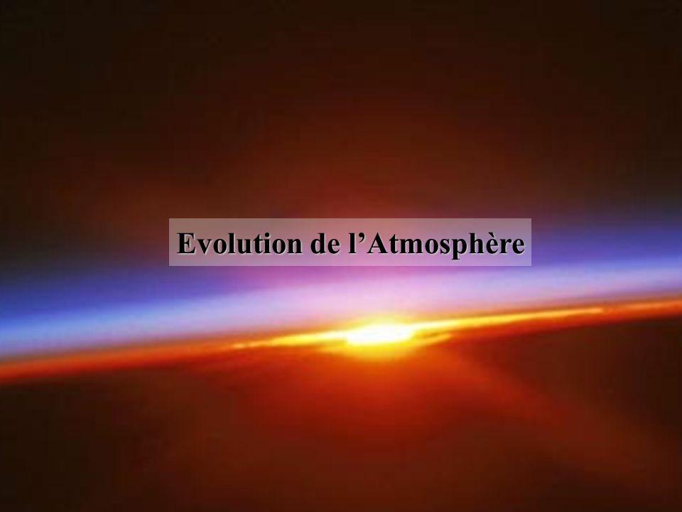 Evolution de lAtmosphère