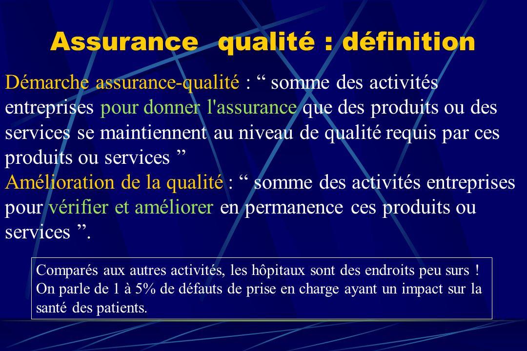 Démarche assurance-qualité : somme des activités entreprises pour donner l'assurance que des produits ou des services se maintiennent au niveau de qua