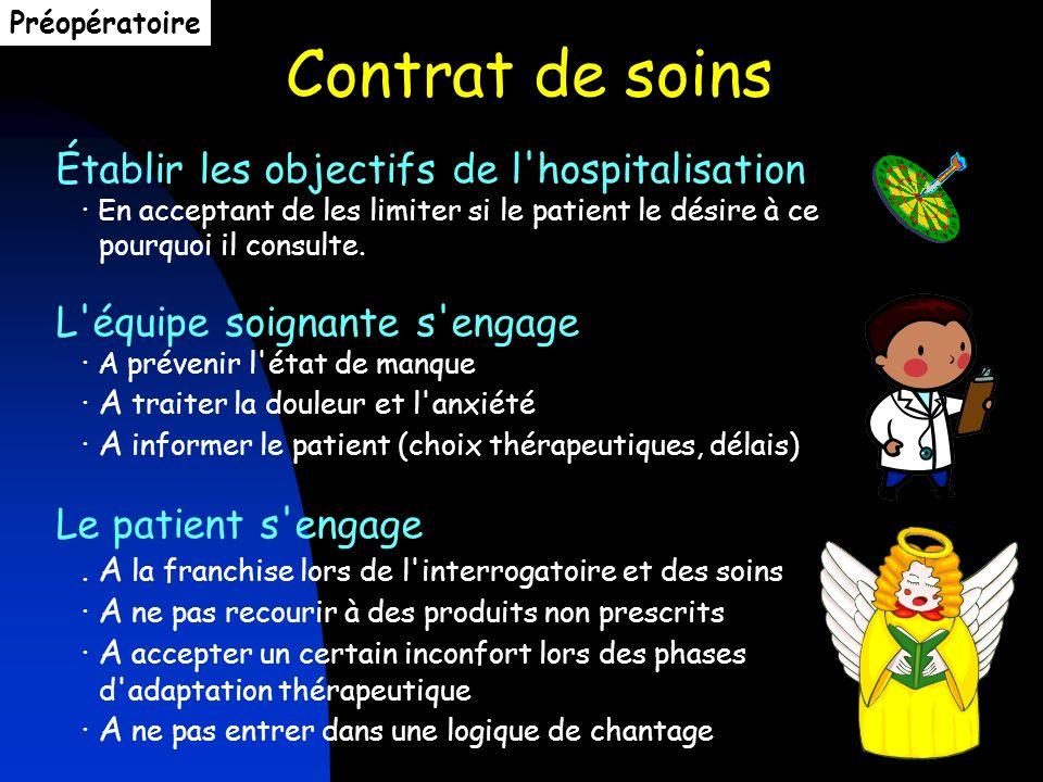 Contrat de soins Établir les objectifs de l'hospitalisation · En acceptant de les limiter si le patient le désire à ce pourquoi il consulte. L'équipe