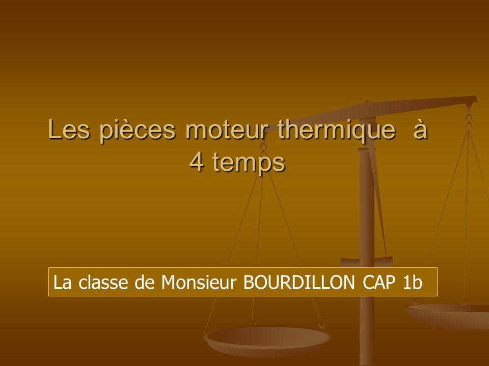 Les pièces moteur thermique à 4 temps La classe de Monsieur BOURDILLON CAP 1b