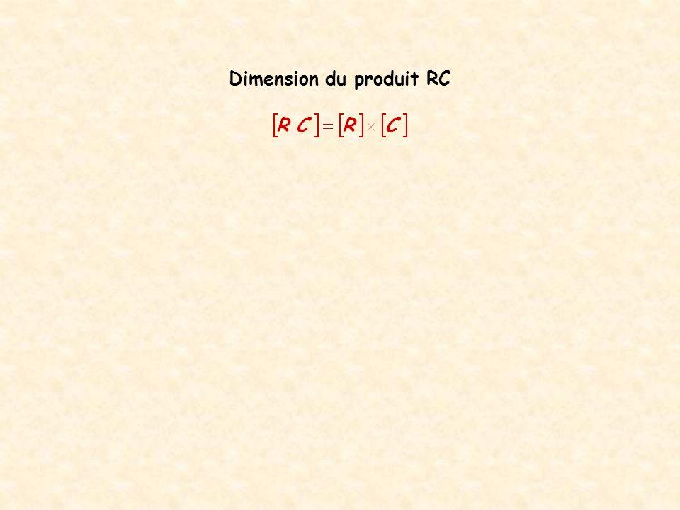 Aide : On peut utiliser la loi dOhm et les deux relations donnant la charge électrique dun condensateur.