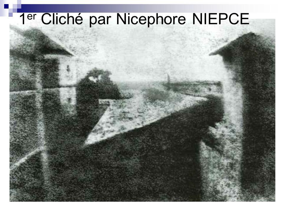 1 er Cliché par Nicephore NIEPCE