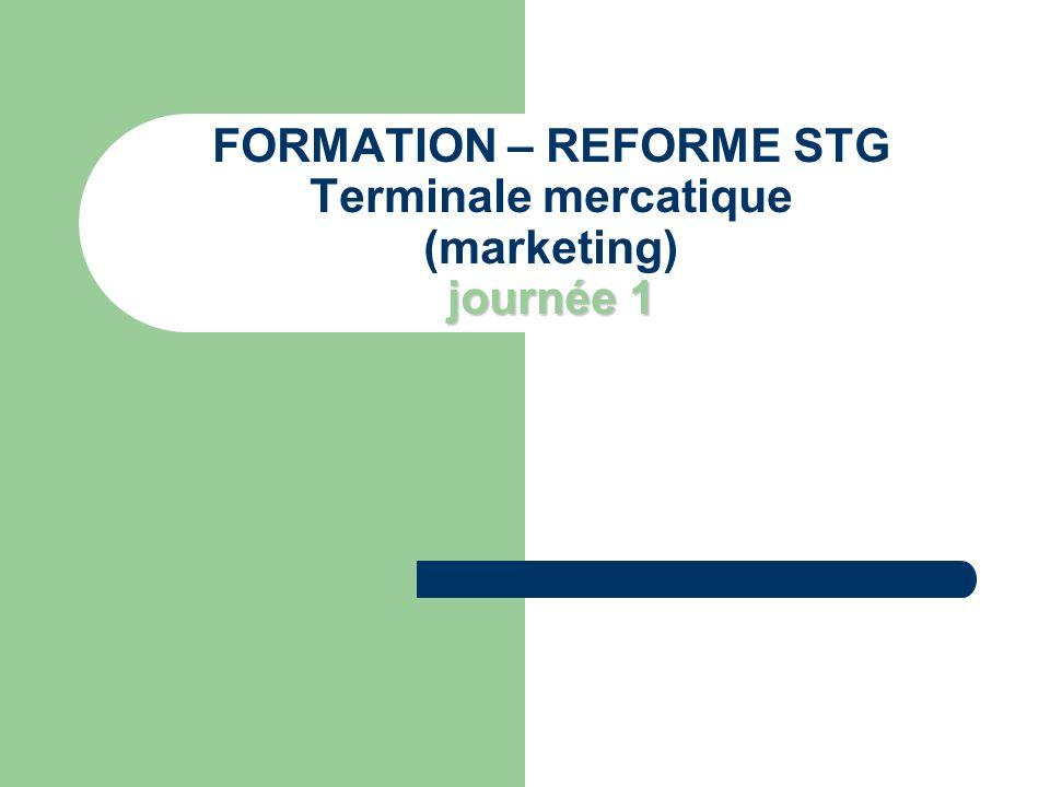 Le déroulement de la journée 1.Les principes de la réforme STG 2.