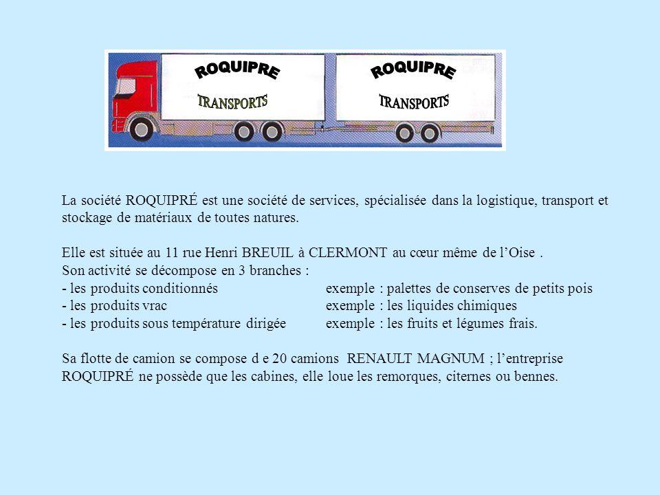 La société ROQUIPRÉ est une société de services, spécialisée dans la logistique, transport et stockage de matériaux de toutes natures.