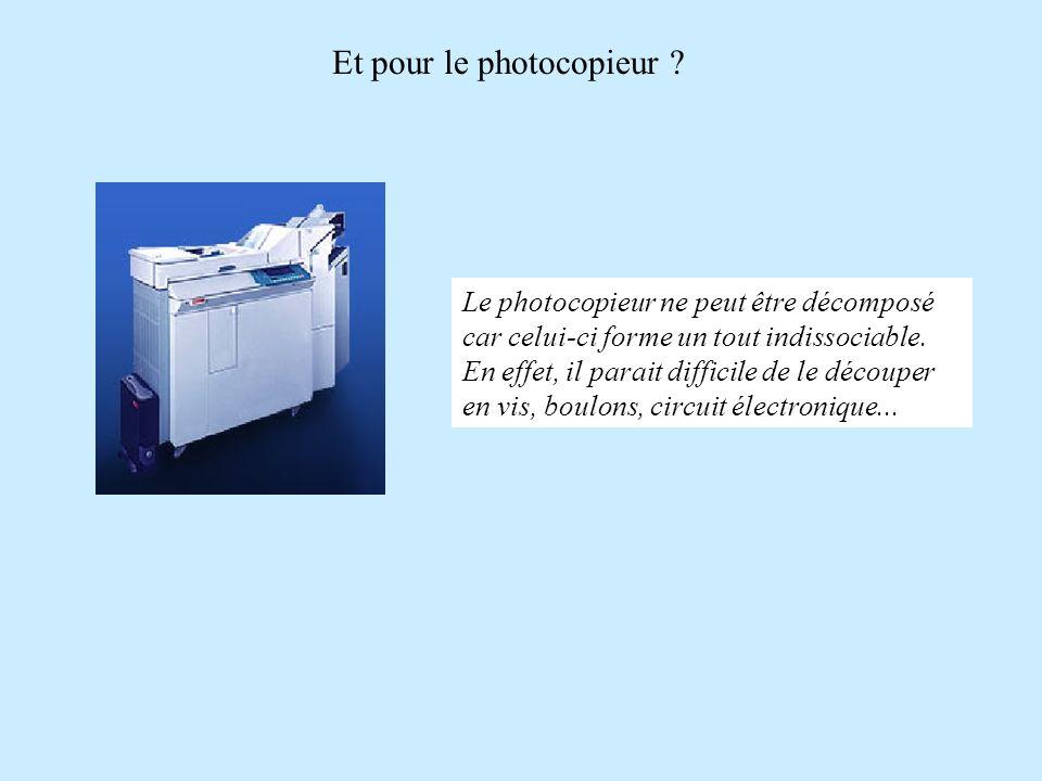 Et pour le photocopieur .