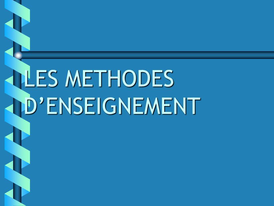LES METHODES DENSEIGNEMENT