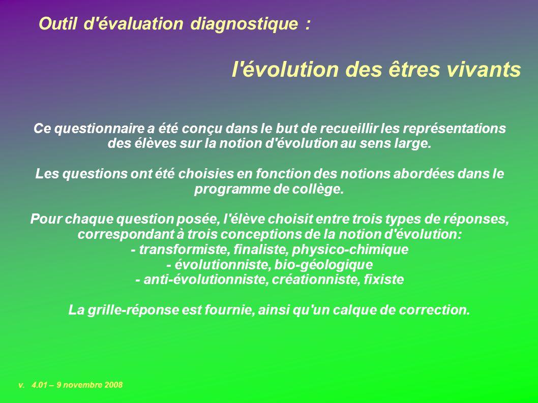 Outil d évaluation diagnostique : v.