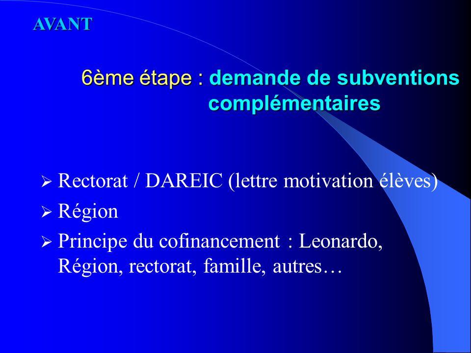 5ème étape : documents administratifs et pédagogiques Couverture sociale / Carte vitale européenne Convention (B.O.