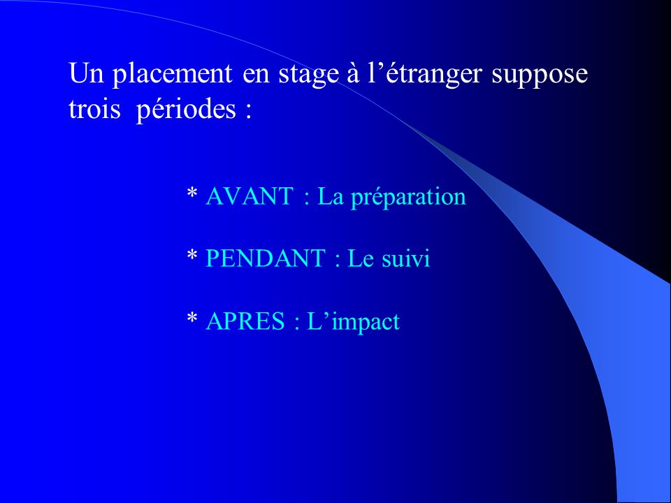 PROPOSITIONS POUR « MONTER » UN PLACEMENT A LETRANGER