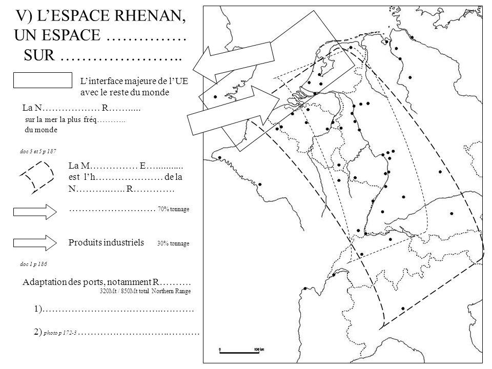 V) LESPACE RHENAN, UN ESPACE …………… SUR …………………..