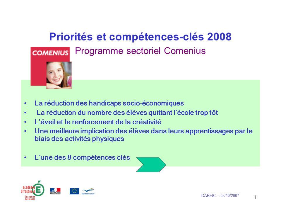 2 Compétences-clés (2008) 1.Communication dans la langue maternelle; 2.