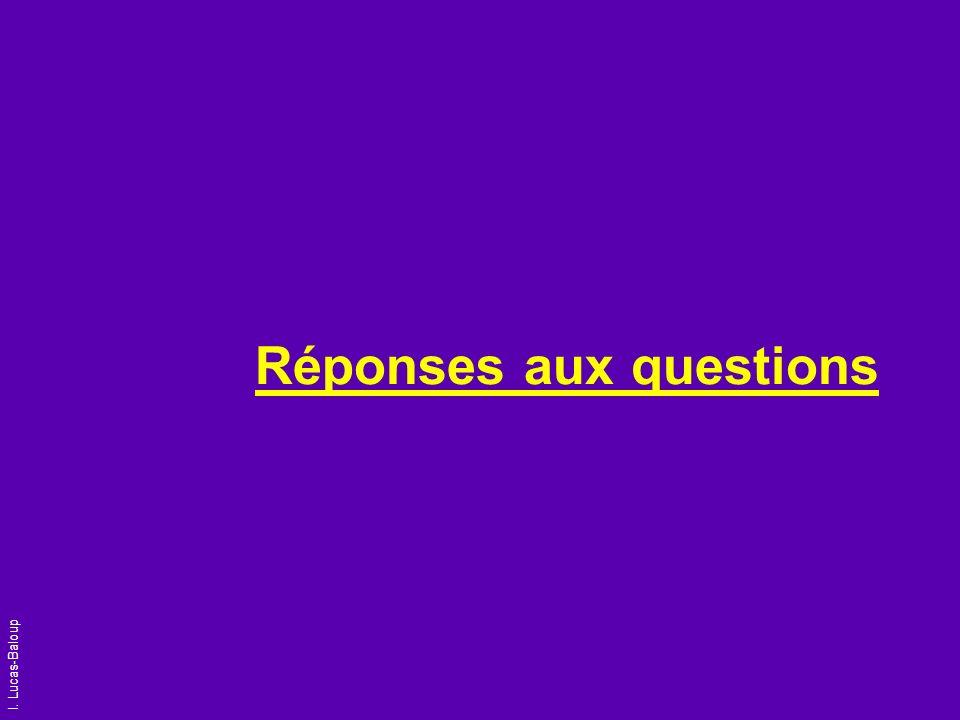 I. Lucas-Baloup Réponses aux questions