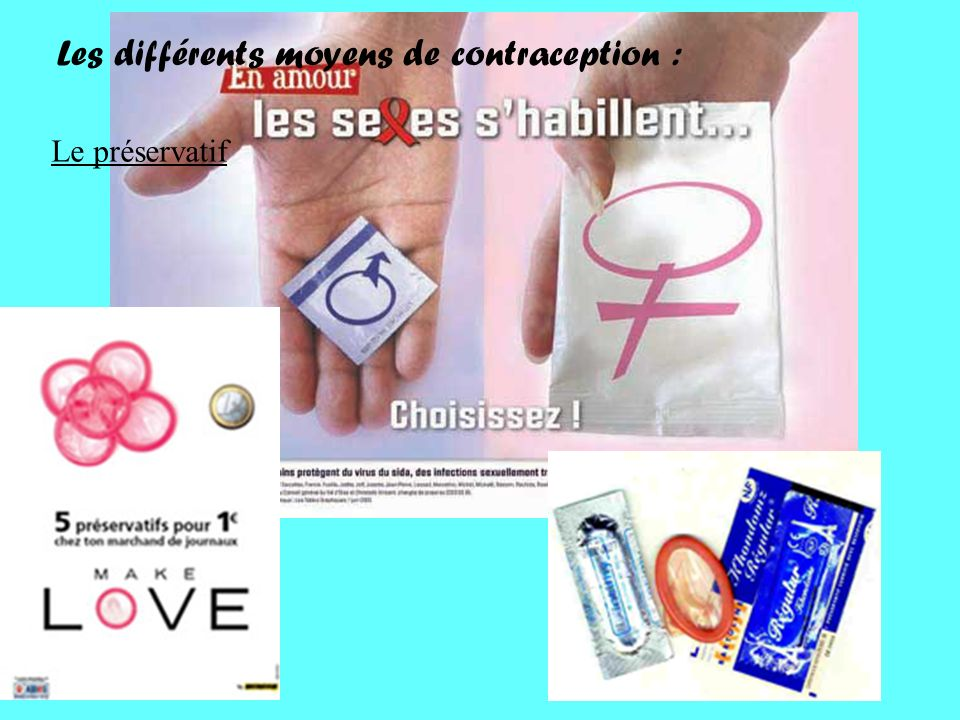 Les différents moyens de contraception : Le préservatif