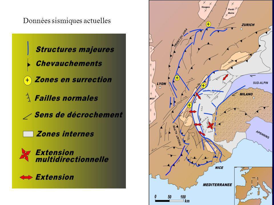 Données sismiques actuelles