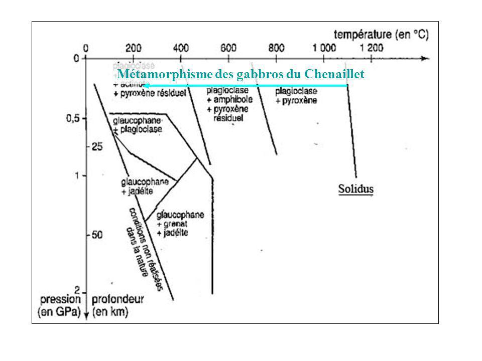 Front Pennique Zone externe Zone interne Ophiolite du Chenaillet dans le faciès SV Bloc basculé, marge passive Ouverture océanique au jurassique inférieur.