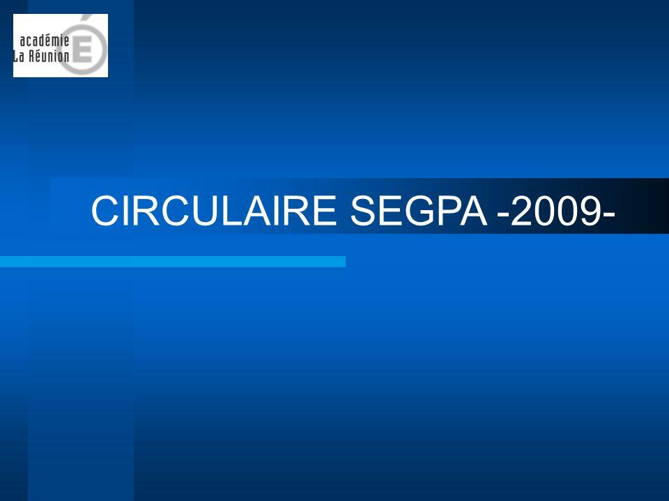 CIRCULAIRE SEGPA -2009-