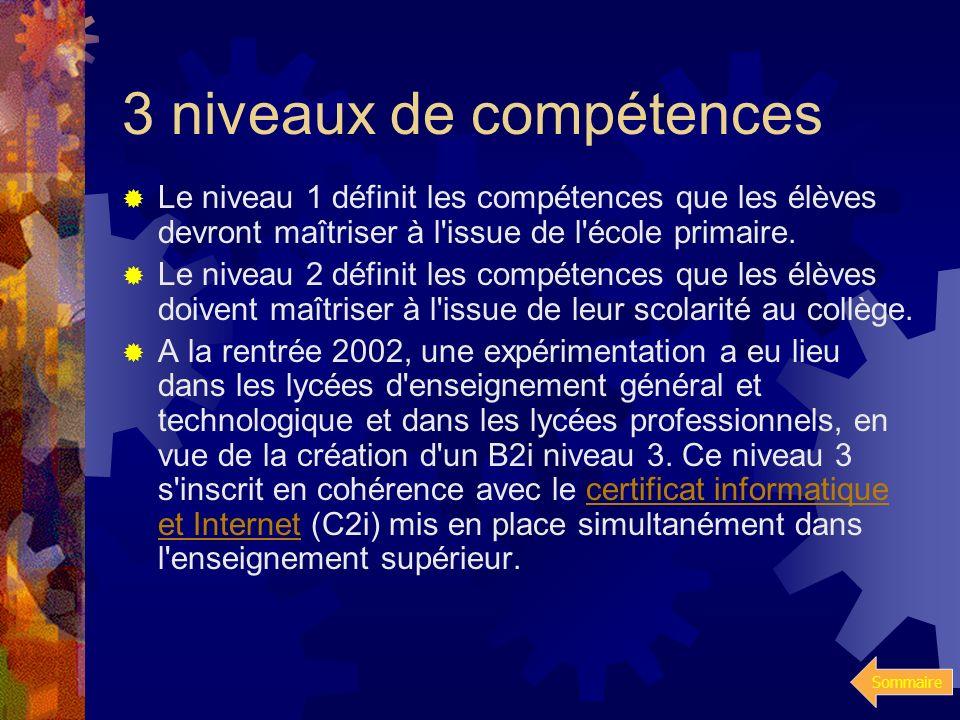 Sommaire Bulletins officiels de léducation nationale N°42 du 23-11-2OOO spécifie lensemble des compétences significatives dans le domaine des technolo