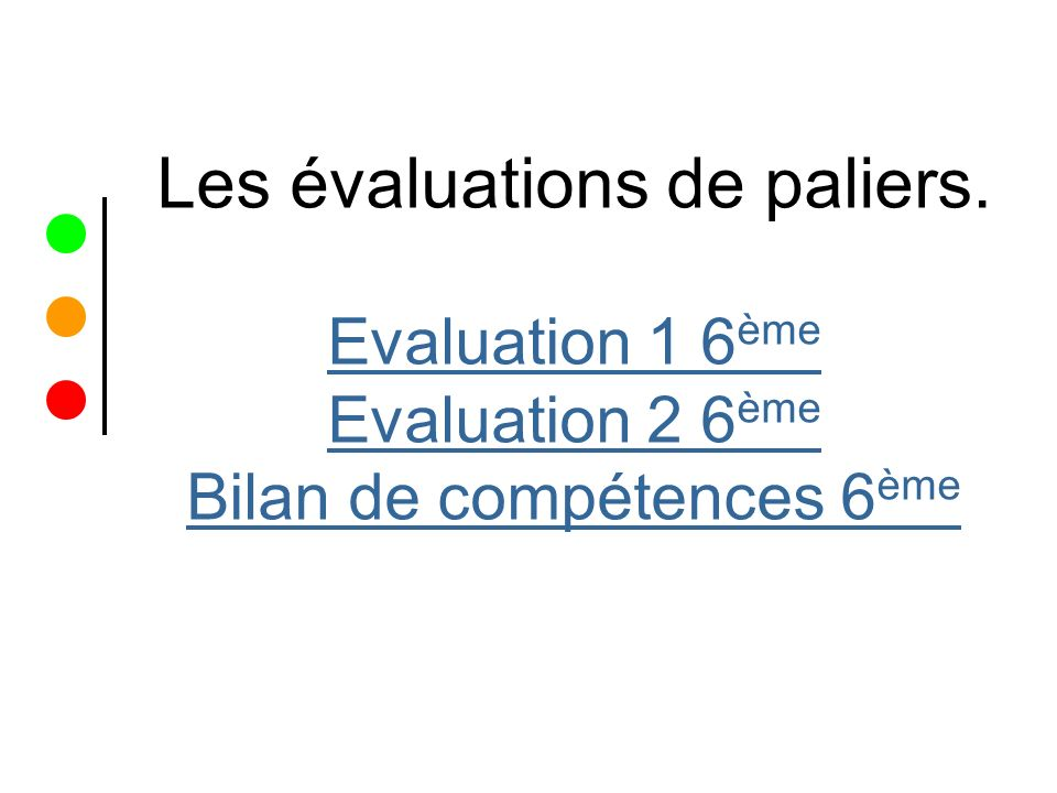 Evaluation 1 6 ème