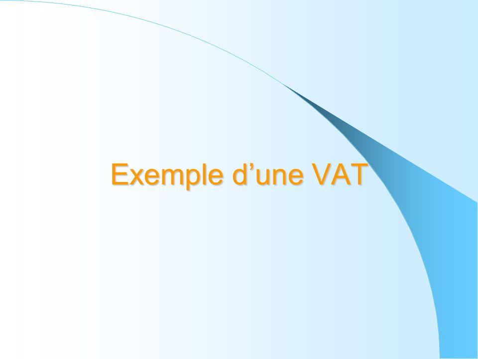 Exemple dune VAT