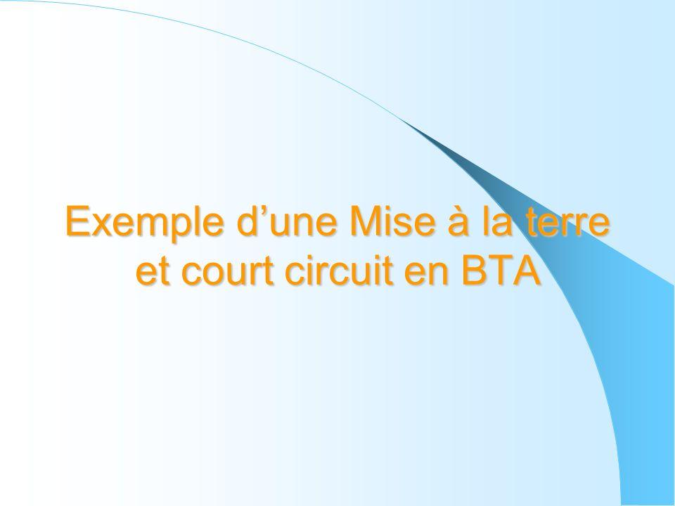 Exemple dune Mise à la terre et court circuit en BTA