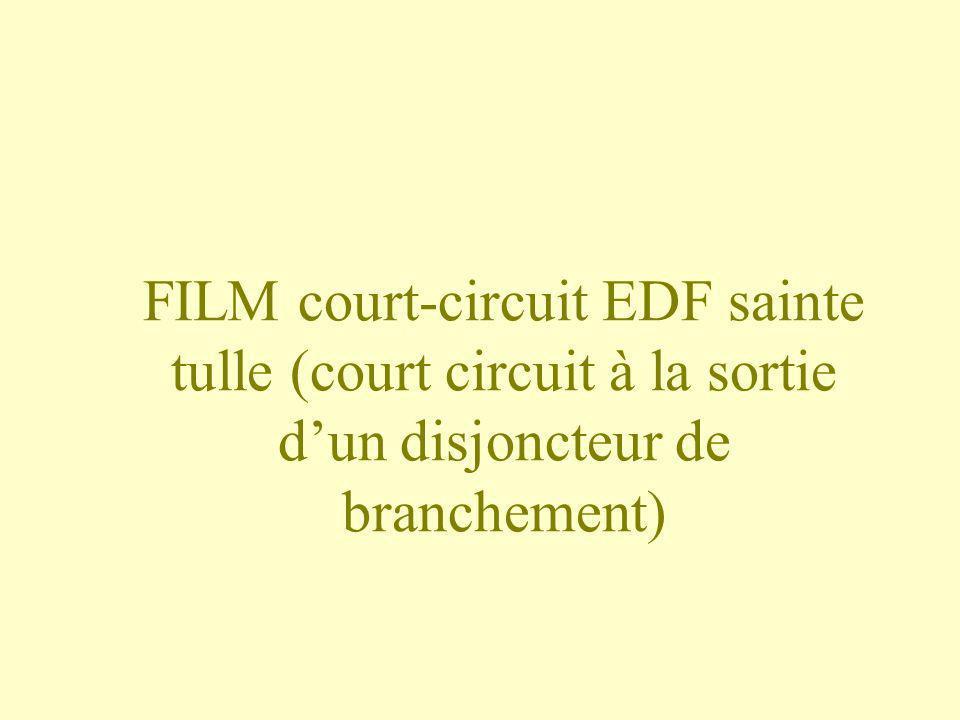 FILM court-circuit EDF sainte tulle (court circuit à la sortie dun disjoncteur de branchement)