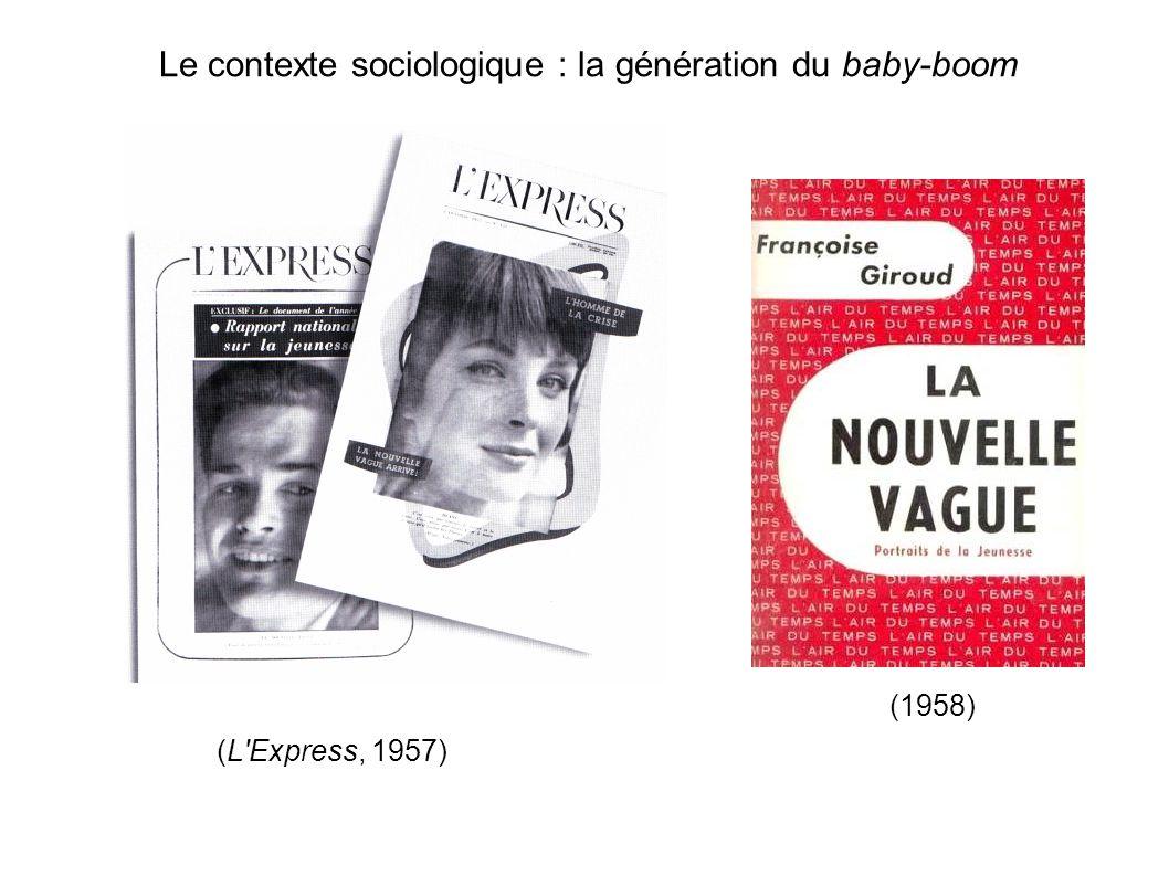 autour d une revue : les Cahiers du cinéma (fondée en 1951 par André Bazin et Jacques Doniol-Valcroze) Claude Chabrol et Jean-Luc Godard dans les locaux des Cahiers du cinéma