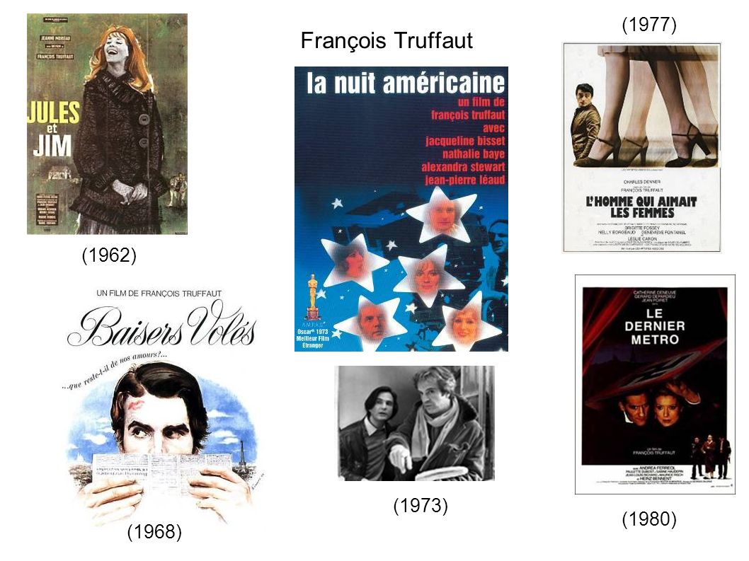 François Truffaut (1962) (1968) (1980) (1973) (1977)